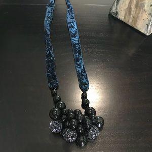 Anthropologie velvet bead necklace